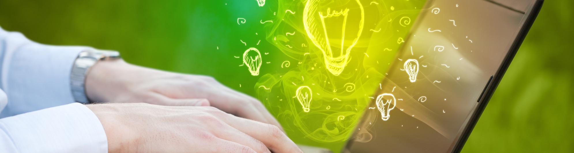 laptop lightbulb ideas