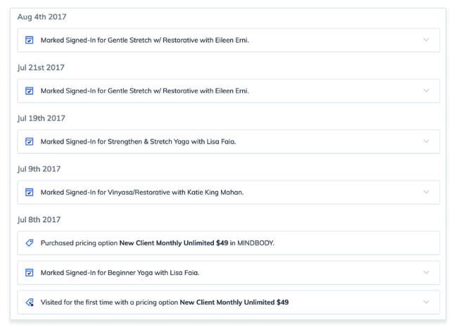crm timeline scheduling software